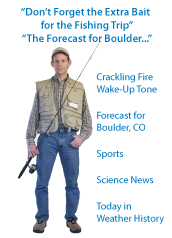 Don't Forget the Extra Bait for the Fishing Trip, The Forecast for Boulder...